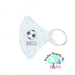Mascarilla Higiénica reutilizable Personalizada Balón Fútbol Color a elegir
