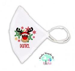 Mascarilla Higiénica reutilizable Personalizada Navidad Rudolph