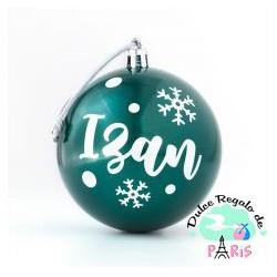 Bola Navidad Verde personalizada