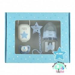 Cajita My Basics 150 Estrella Azul Personalizada Cajita My