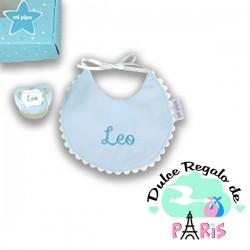 Cajita Baby Babero Azul Personalizada