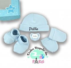 Cajita Set Recién Nacido Azul Personalizado Cajita Set Recién