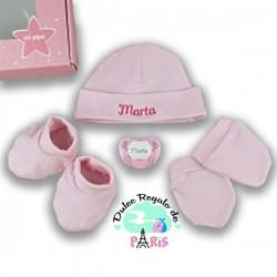 Cajita Set Recién Nacido Rosa Personalizado Cajita Set Recién