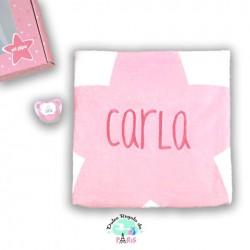 Cajita Baby Arrullo Estrellas Rosa Personalizada Cajita Baby