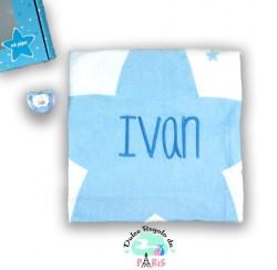 Cajita Baby Arrullo Estrellas Azul Personalizada