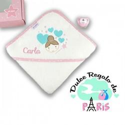Cajita Baby Baño Hada personalizada+ Chupete