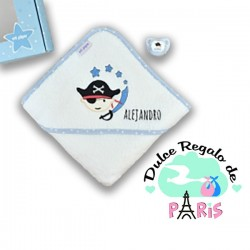 Cajita Baby Baño Pirata + Chupete personalizada