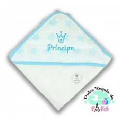 Capa de baño Estrellas azul Príncipe Capa de baño Estrellas