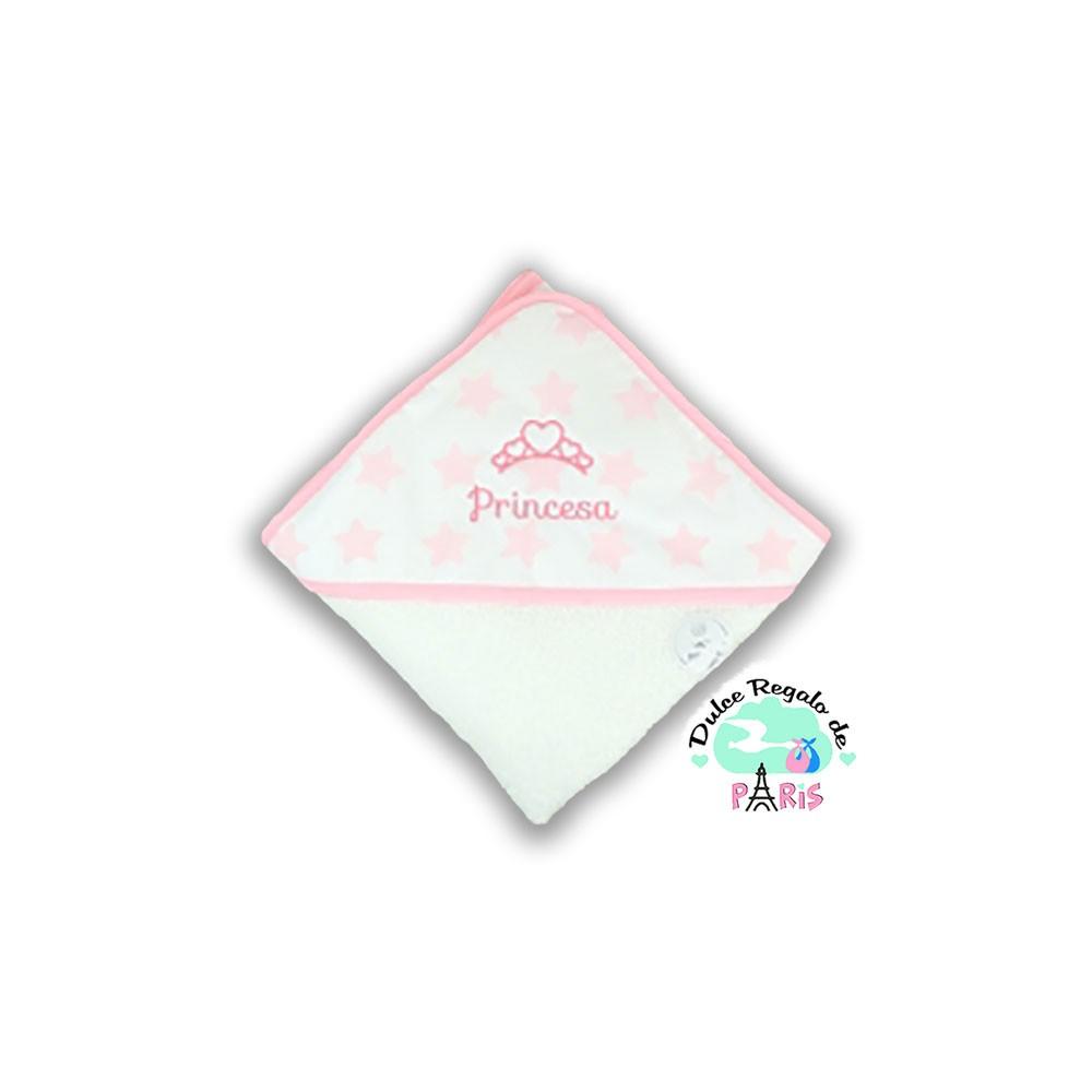 Capa de baño Estrellas rosa Princesa Capa de baño Estrellas