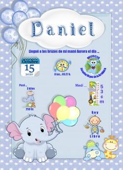 Lamina de nacimiento Daniel