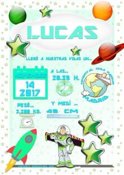 Lámina de Nacimiento Lucas