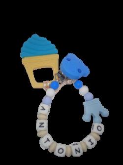 Chupetero (solo o con mordedor helado silicona ) Chupetero