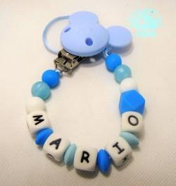 Chupetero Azul Mario CHUPETERO AZUL MARIO. En Dulce bebé de