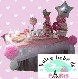 Baby Shower Rosa y Blanco Lola