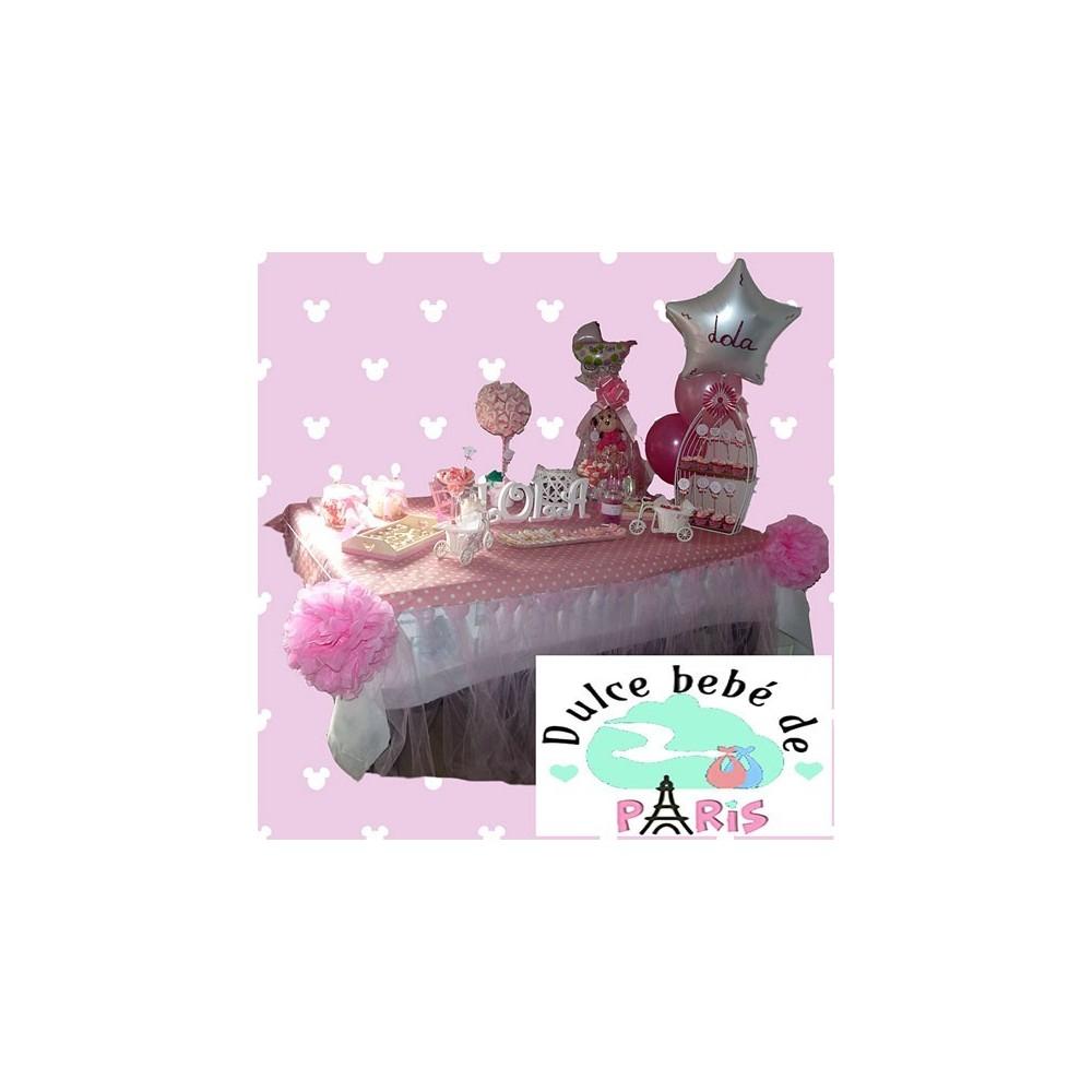 Baby Shower Rosa y Blanco Lola Baby Shower Lola. En tonos rosas