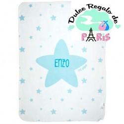 Arrullo Estrellas Azul Personalizado tacto terciopelo Arrullo