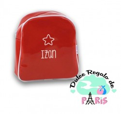 Mochila Gloss Roja personalizada