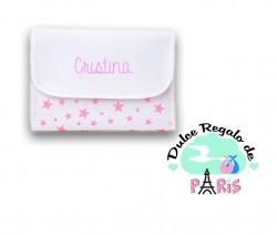 Portadocumentos Estrellas Rosa Personalizado