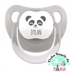 Chupete Baby o Clásico Personalizado Nombre + Oso Panda