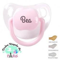 Chupete Baby Personalizado Transparente Rosa Pastel
