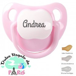 Chupete Baby Personalizado Rosa Pastel