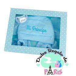 Cajita Set recien nacido Azul Personalizada Cajita Set recien