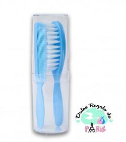 Set Cepillo y peine azul +0M Personalizados Set Cepillo y peine