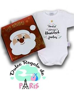 Babidu Body Navideño Nuestra primera Navidad juntos con cajita