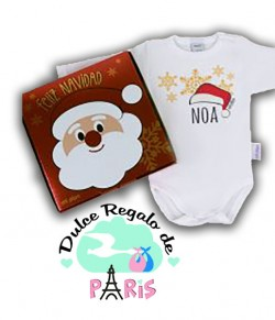 Babidu Body Navideño Personalizado Navidad Gorro Papá Noel con