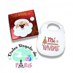 Babero Navideño Mi Primera Navidad Estilo Retro con cajita de