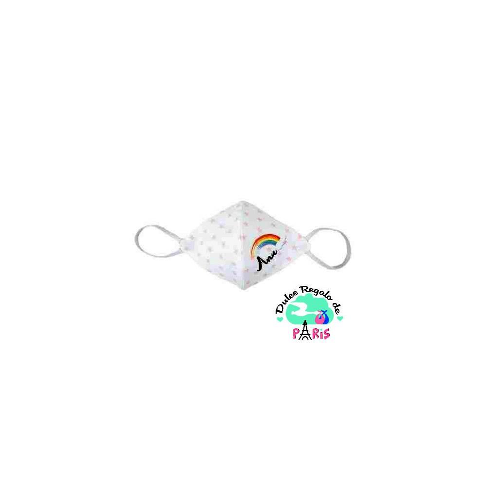 Mascarilla Higiénica reutilizable Personalizada Arcoiris Color