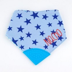 Bandana Mordedor Azul Personalizada +3m Bandana Mordedor Azul