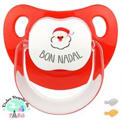 Chupete Baby Deco Merry Christmas con Papá Noel Chupete Baby