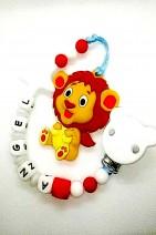 Mordedores de silicona con cadena personalizada con el nombre del bebé